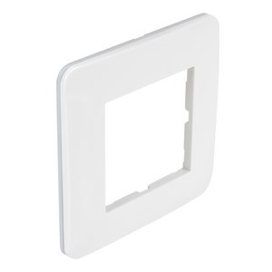 Plaque Simple blanc brillant pour 1 Poste de la série CASUAL Debflex