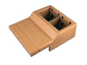 bo tier 2 appareillages 45x45 mm pour plinthes electriques pvc h tre 20x70 mm france. Black Bedroom Furniture Sets. Home Design Ideas
