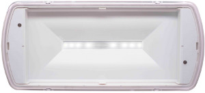 BAES SATI, Anti-panique, TOUT LED, IP65, IK10, 360 Lm, UNILED 2-400 ES LUMINOX