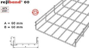 chemin de cable en fil rejiband 60x60 mm france. Black Bedroom Furniture Sets. Home Design Ideas