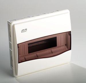 coffret lectrique vide encastrer 650 c ip 40 1 rang e 12 modules france. Black Bedroom Furniture Sets. Home Design Ideas