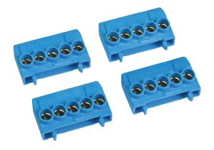 lot de 4 borniers de Neutre Bleu pour Coffret Electrrique Fix-O-Rail Unibis