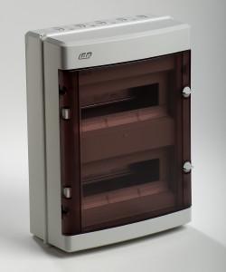 coffret electrique vide apparent 650 c tanche ip55 2 rang es 24 modules france. Black Bedroom Furniture Sets. Home Design Ideas