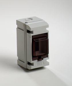 coffret electrique vide apparent 650 c tanche ip55 1 rang e 3 modules avec porte transparente fra. Black Bedroom Furniture Sets. Home Design Ideas
