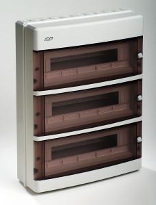 coffret electrique vide apparent 650 c tanche ip55 3 rang es 54 modules france. Black Bedroom Furniture Sets. Home Design Ideas