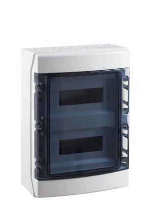 Coffret Electrique Vide Apparent 650 C Etanche Ip65 2 Rangees 24 Modules France Electric Com