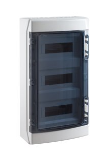 coffret electrique vide apparent 650 c tanche ip65 3 rang es 36 modules france. Black Bedroom Furniture Sets. Home Design Ideas