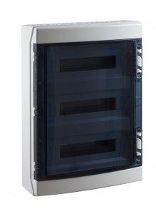 coffret electrique vide apparent 650 c tanche ip65 3 rang es 54 modules france. Black Bedroom Furniture Sets. Home Design Ideas