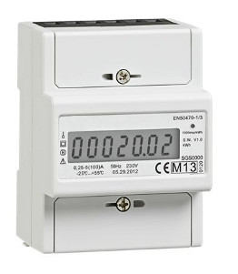 compteur electrique monophas mid 100a 22 kwh direct. Black Bedroom Furniture Sets. Home Design Ideas
