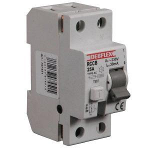 Interrupteur diff rentiel type ac 2 p les 25a 30ma debflex - Differentiel type a ou ac ...