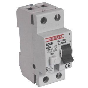 Interrupteur diff rentiel type ac 2 p les 40a 30ma debflex - Differentiel type a ou ac ...